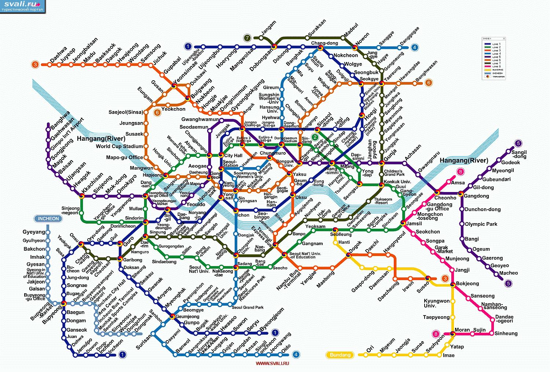 Схема метро сеула на русском языке фото 290