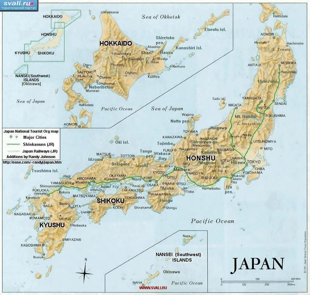 Karty Karta Yaponii Angl Yaponiya Turisticheskij Portal Svali Ru