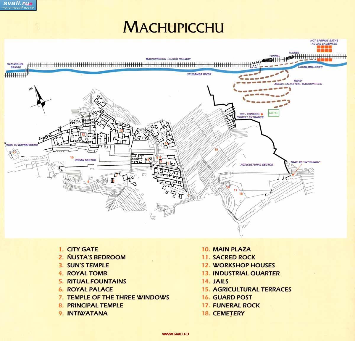 Karty Karta Machu Pikchu Machu Picchu Peru Angl Peru