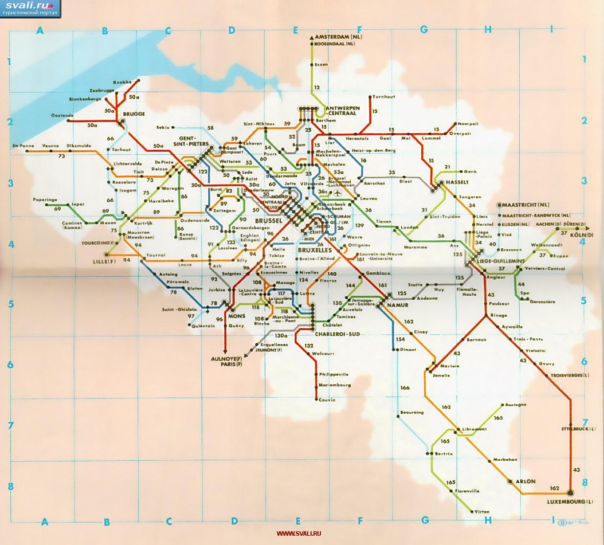 Схема автобусов брюсселя