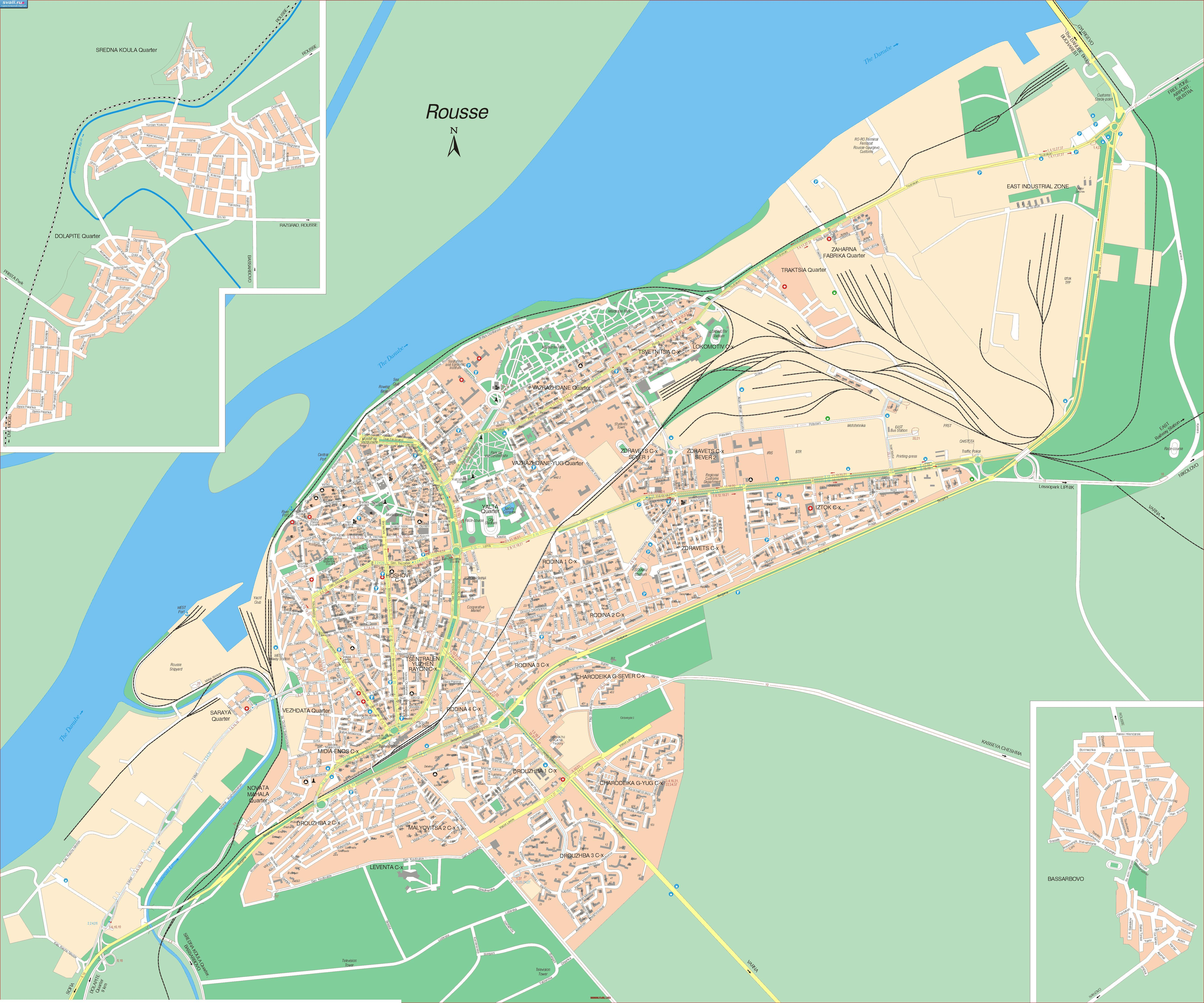 Karty Bolgariya Detalnaya Karta Ruse Angl Bolgariya