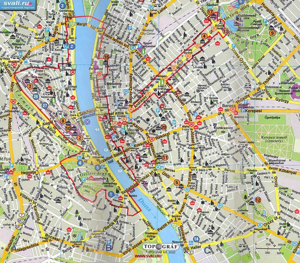 карта будапешта скачать
