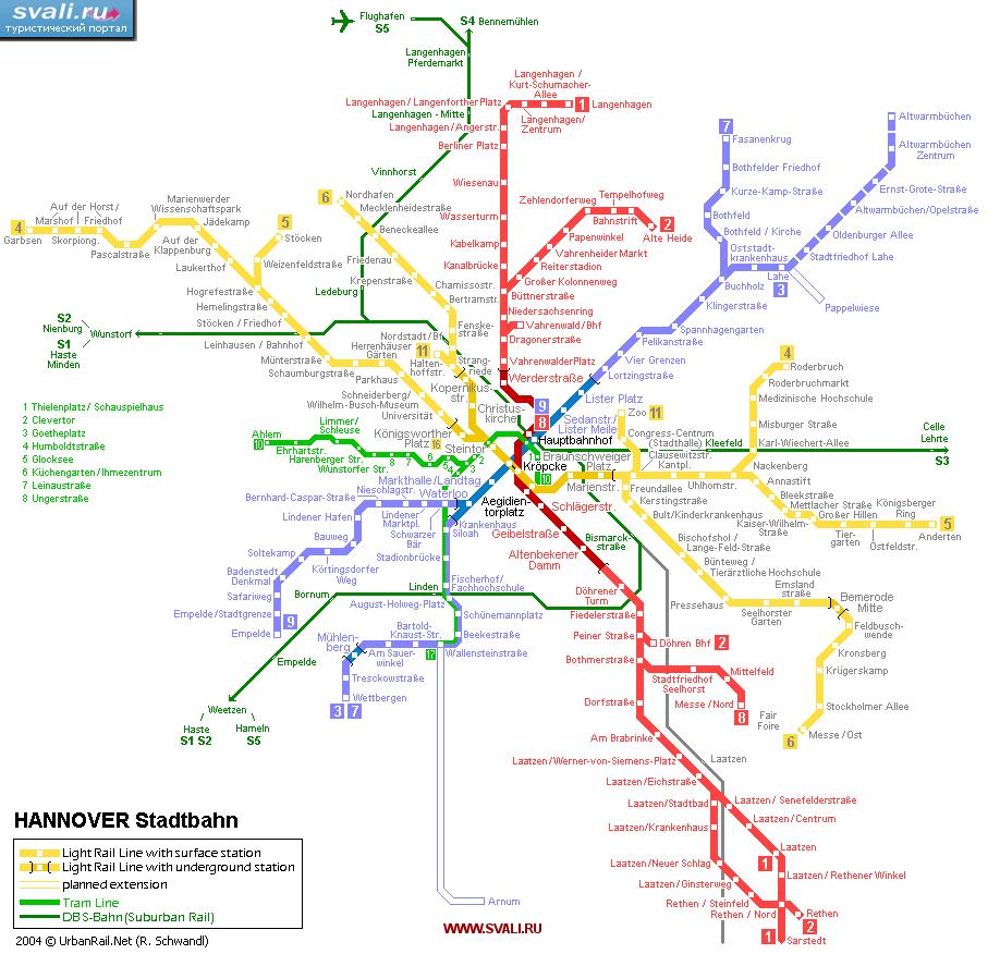 Схемы городов германии