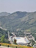 Каток, высокогорный спортивный комплекс Медео, Алма-Ата, Казахстан.