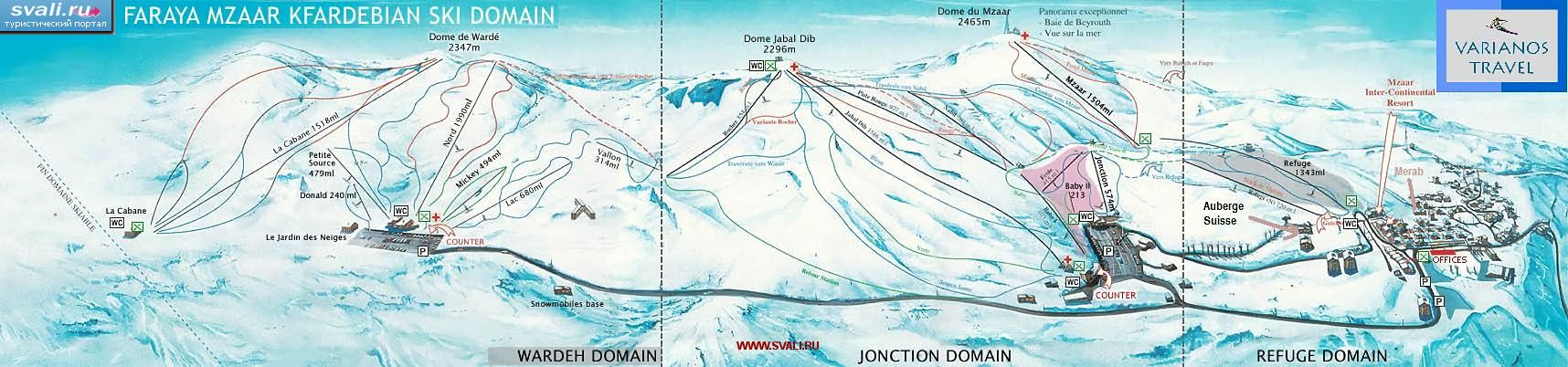 Skimap.  Click the photo to zoom.  Gudauri.  831 km.  Saklikent.