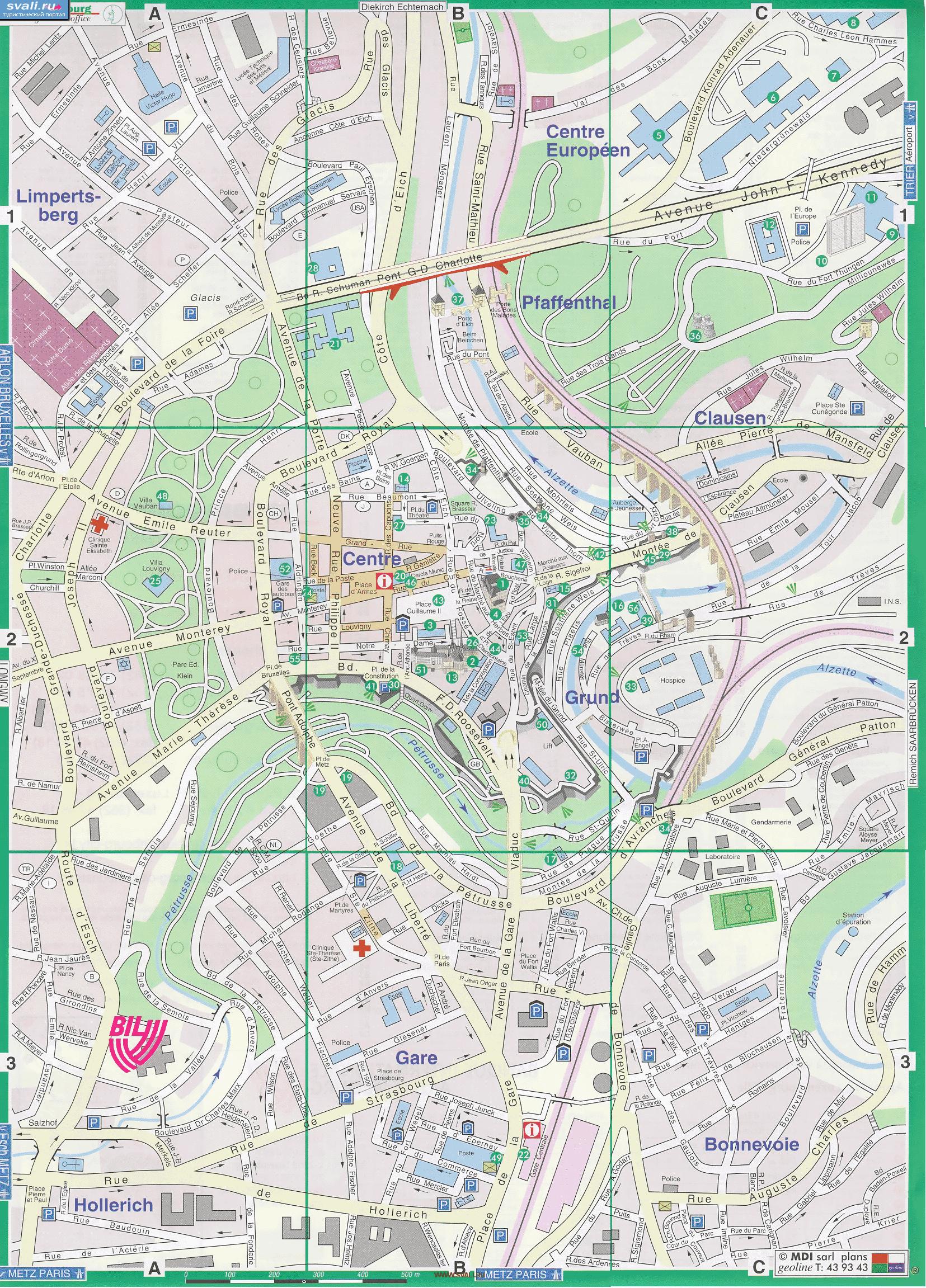 luxembourg city tourist map pdf