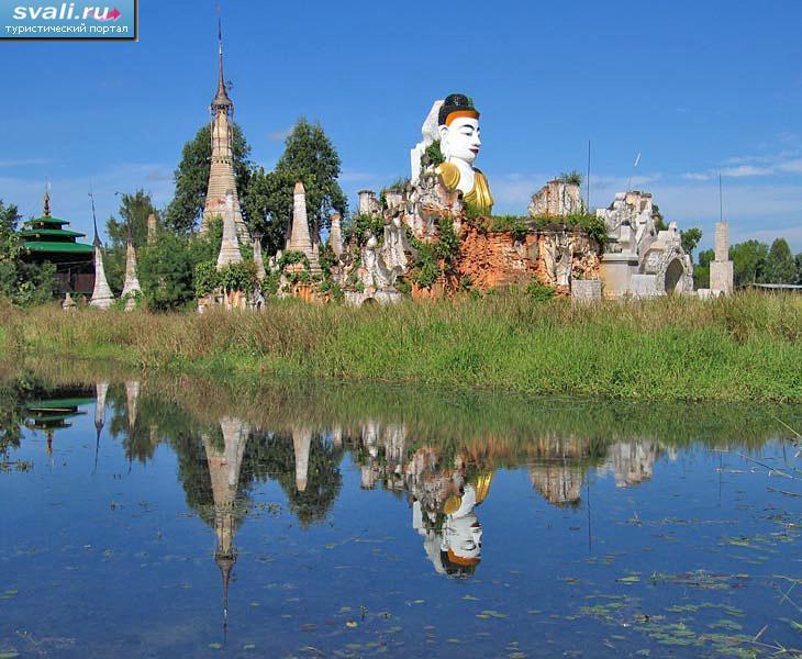 Озеро инле inle lake мьянма бирма