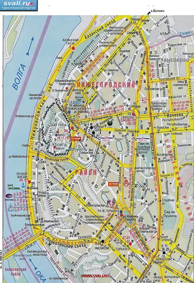 карта нижнего новгорода с