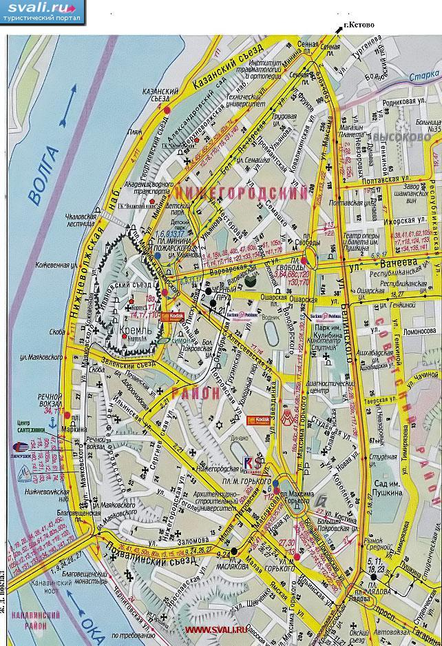 Карта Н Новгорода Спутник