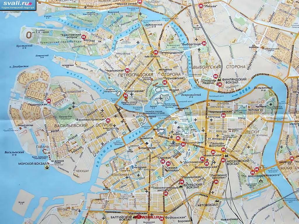 санкт-петербурге карта