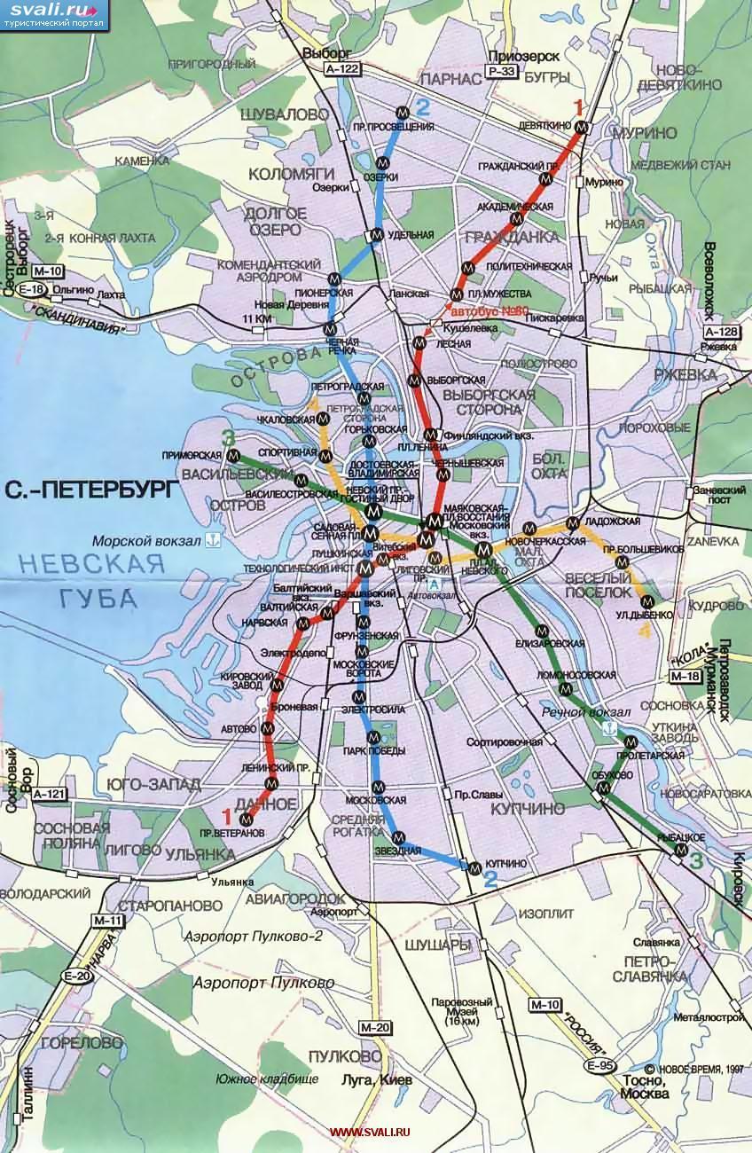 Санкт-Петербург.  В 2025-му году в Петербурге может появиться кольцевая ветка метро, а также сорок пять новых станций.