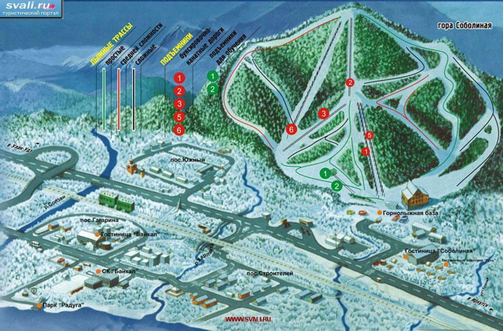 Схема горнолыжного курорта