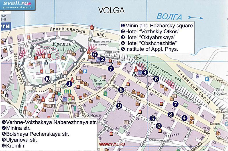 Туристическая карта центра