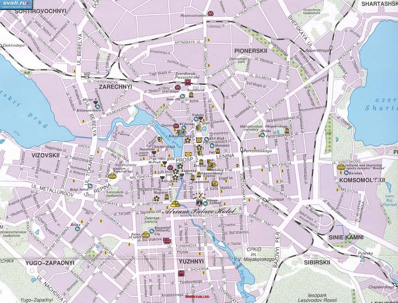 24 сен 2011 .  Карта города Екатеринбург. .  Скачать карту можно кликнув по.