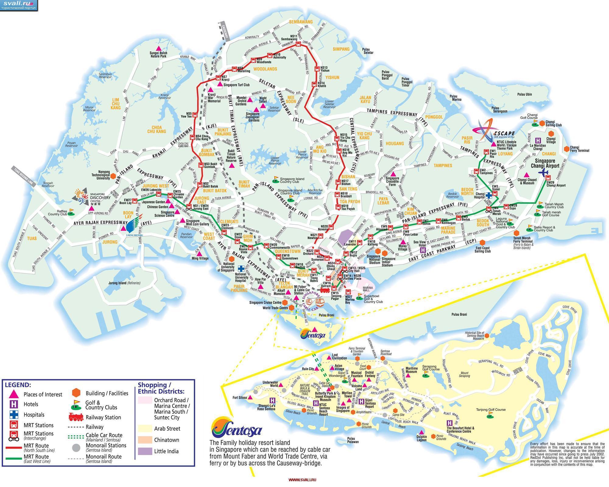 схема острова синтоза на сингапуре