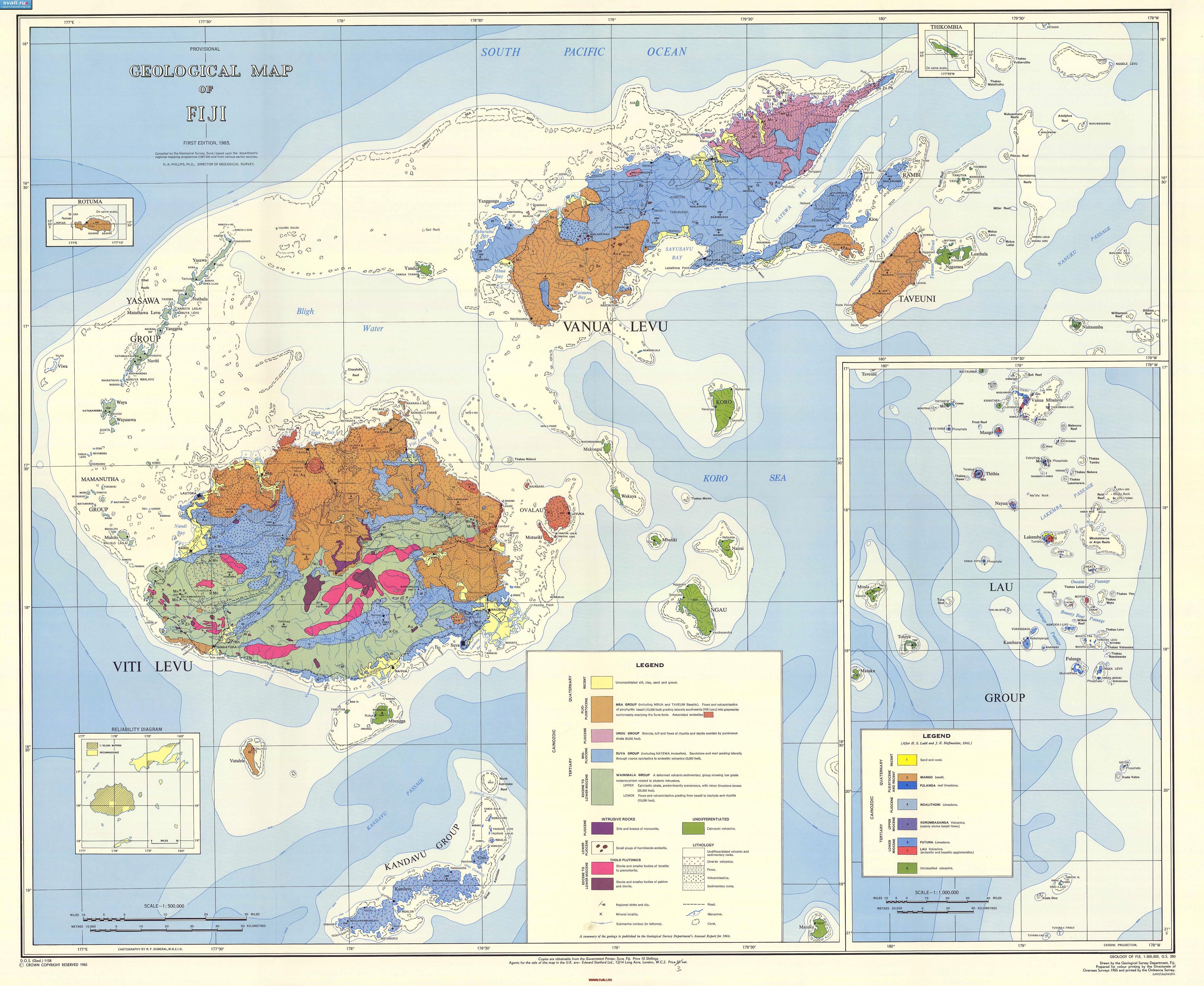 Nanuku Island Map