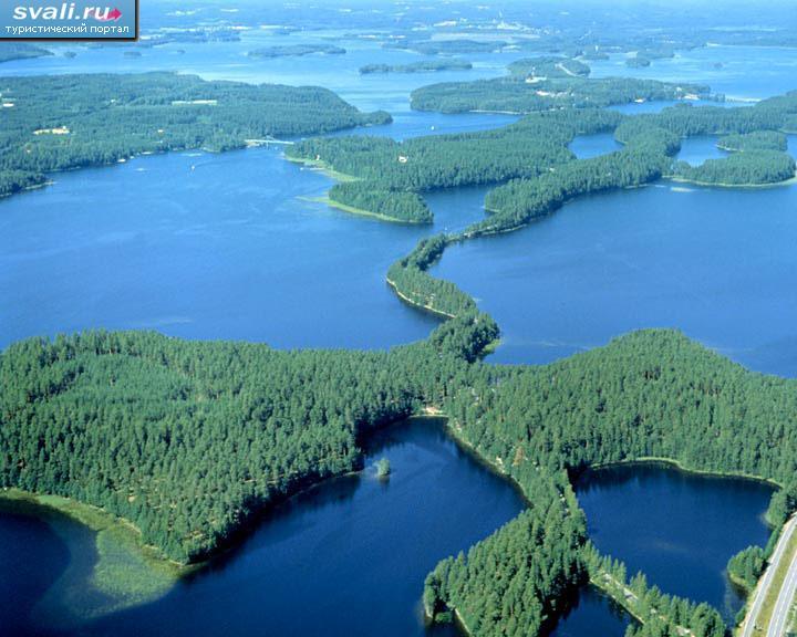 Финляндия страна тысячи озер.